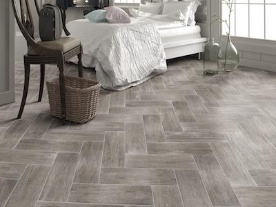 Grey Tiles That Look Like Wood.